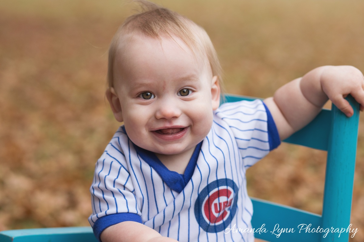 little boy wearing cubs jersey harrah oklahoma