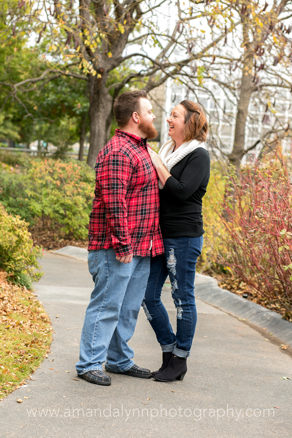 couple at myriad gardens oklahoma city