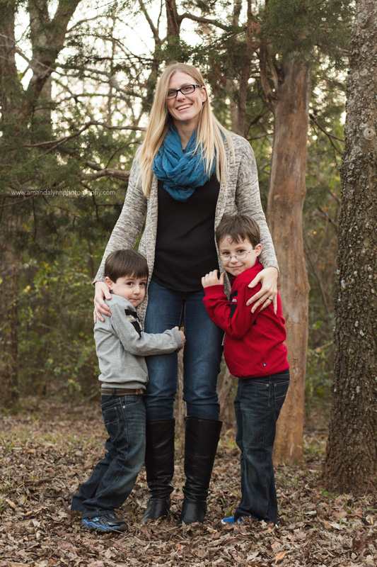 mother with two sons in norman oklahoma