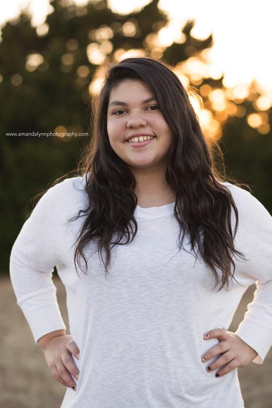 girl teenagers posing in park in choctaw oklahoma