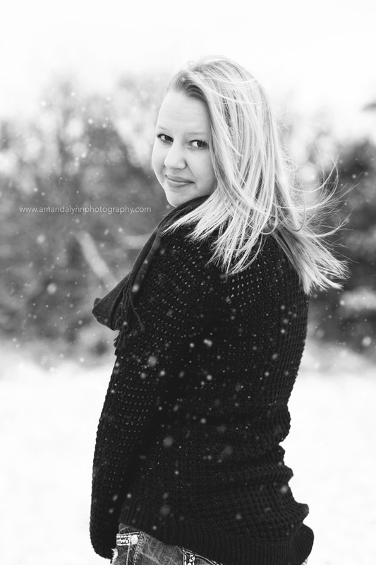 2016 senior standing in the snow harrah oklahoma