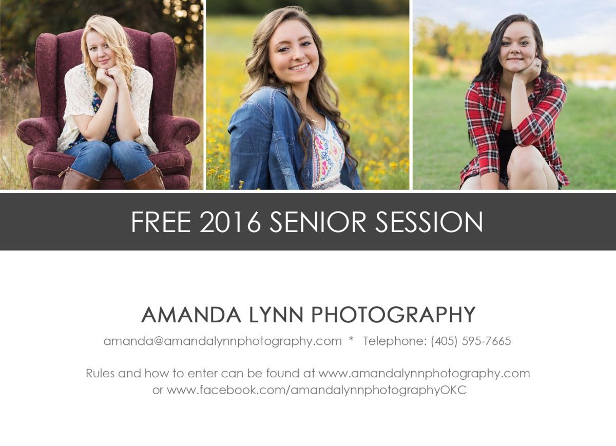Free senior photography session in Harrah Oklahoma