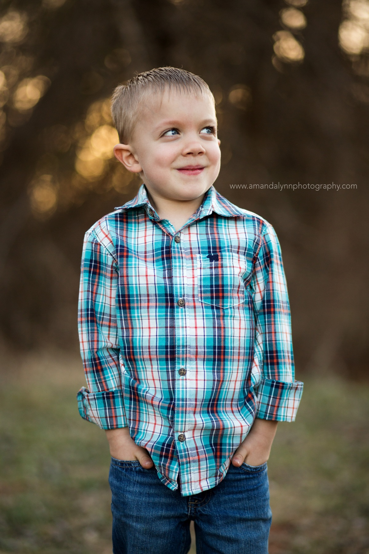 5th birthday photoshoot of little boy with blue eyes in harrah oklahoma