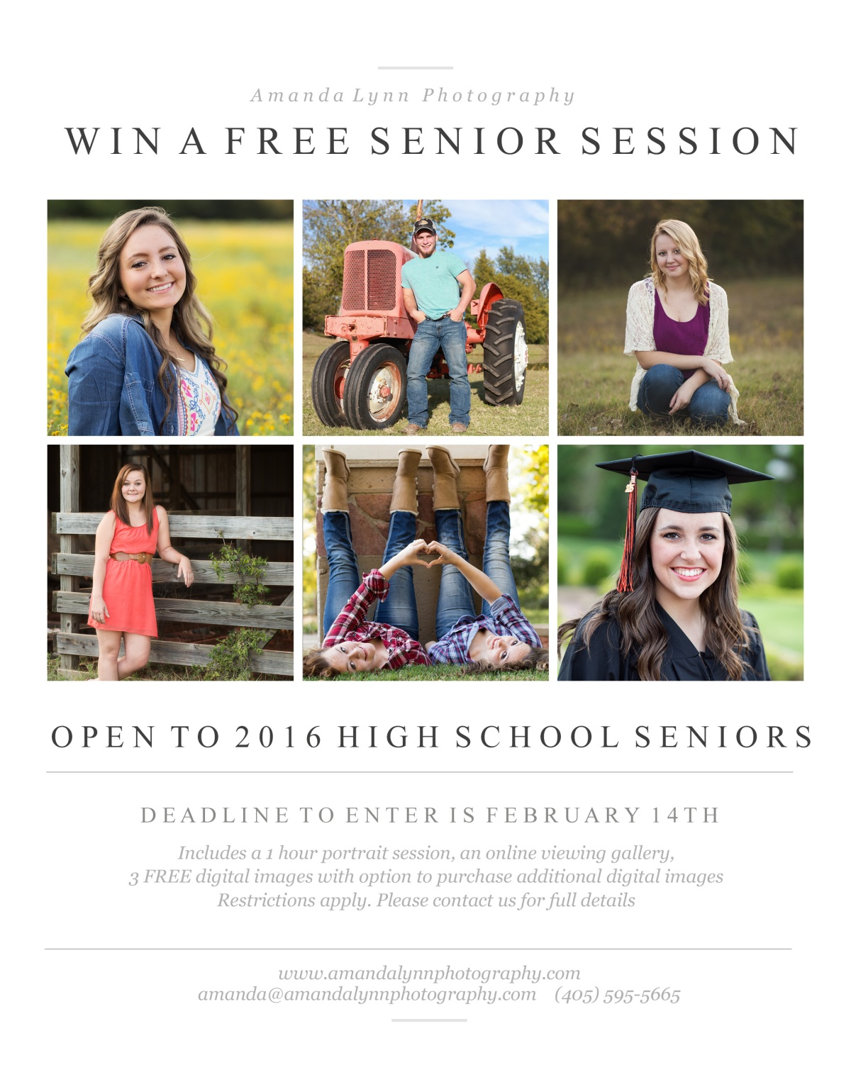 Free High School Senior Photoshoot located in harrah oklahoma