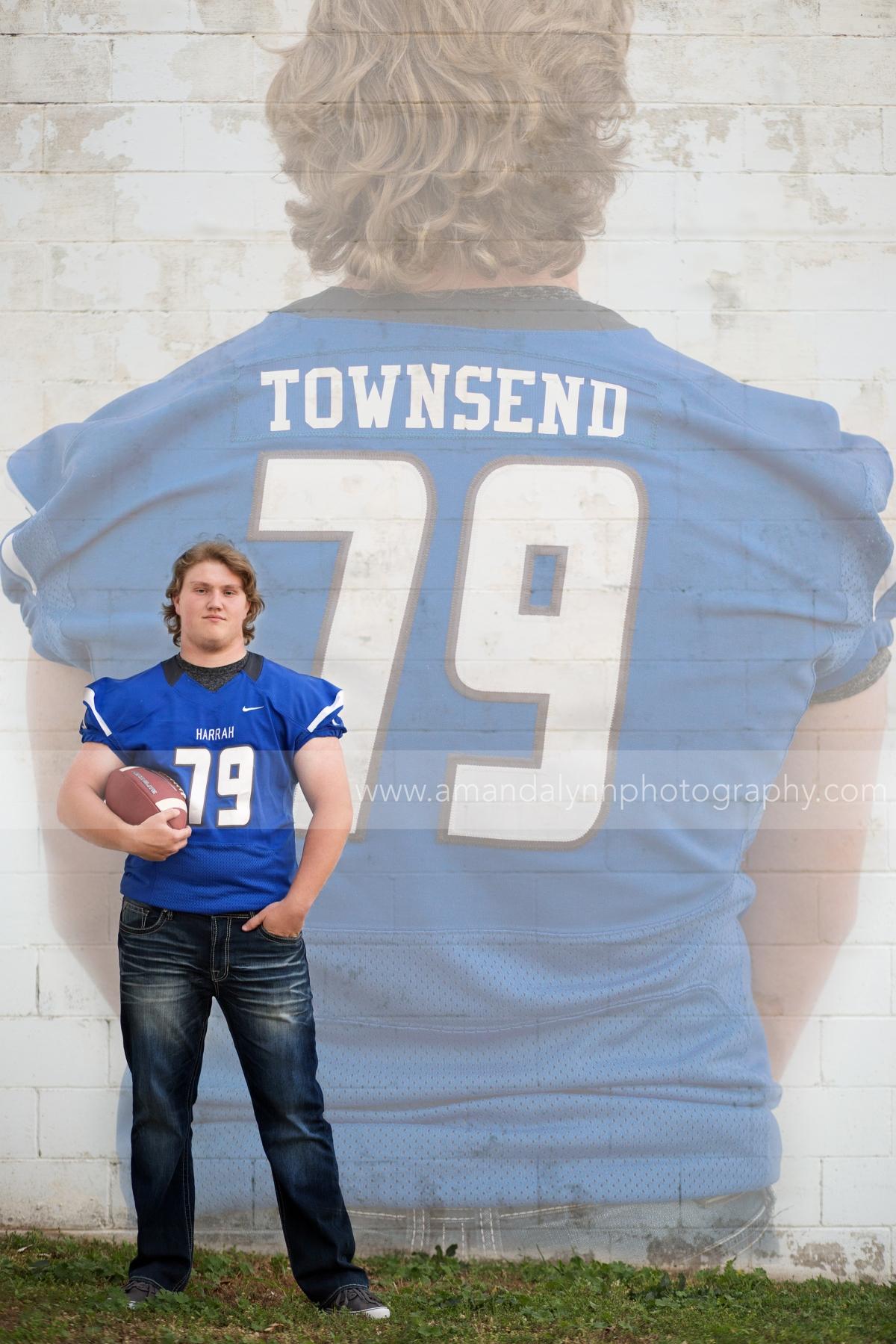 2016 Harrah High School Senior boy football player in harrah oklahoma